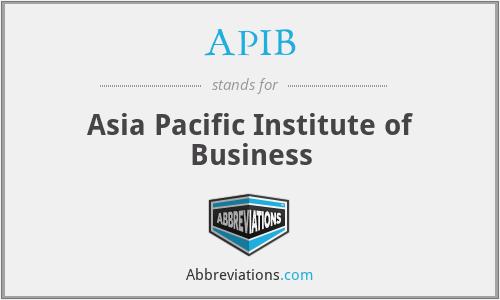 APIB - Asia Pacific Institute of Business