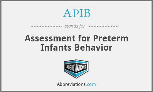 APIB - Assessment for Preterm Infants Behavior