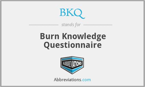 BKQ - Burn Knowledge Questionnaire