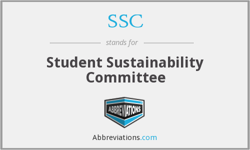 SSC - Student Sustainability Committee