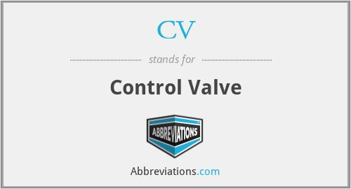 CV - Control Valve