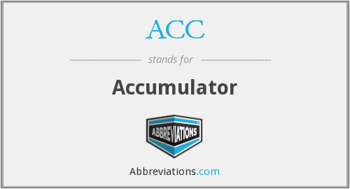 ACC - Accumulator