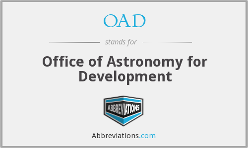 OAD - Office of Astronomy for Development