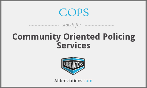 What does COPS stand for?