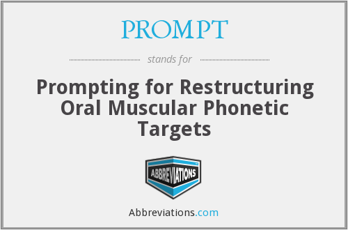 PROMPT - Prompting for Restructuring Oral Muscular Phonetic Targets