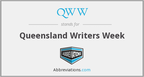 QWW - Queensland Writers Week