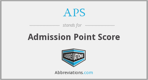 APS - Admission Point Score
