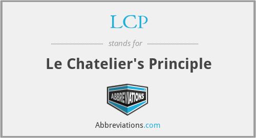 LCP - Le Chatelier's Principle