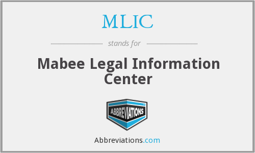 MLIC - Mabee Legal Information Center