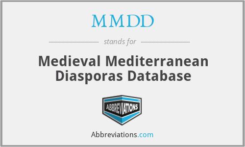 MMDD - Medieval Mediterranean Diasporas Database
