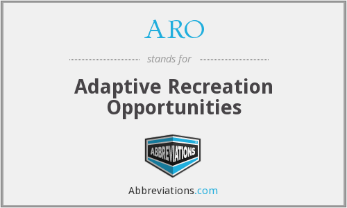ARO - Adaptive Recreation Opportunities