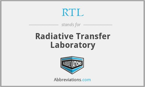 RTL - Radiative Transfer Laboratory