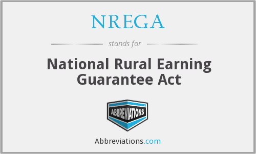 What does NREGA stand for?