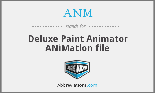 ANM - Deluxe Paint Animator ANiMation file