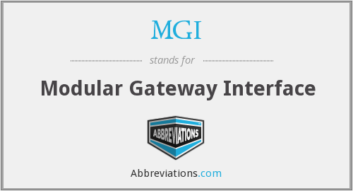 MGI - Modular Gateway Interface