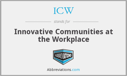 ICW - Innovative Communities at the Workplace