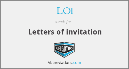 LOI - Letters of invitation