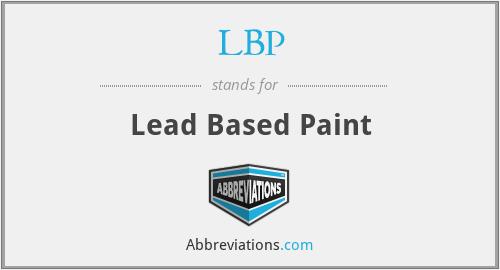 LBP - Lead Based Paint