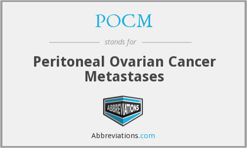 POCM - peritoneal ovarian cancer metastases