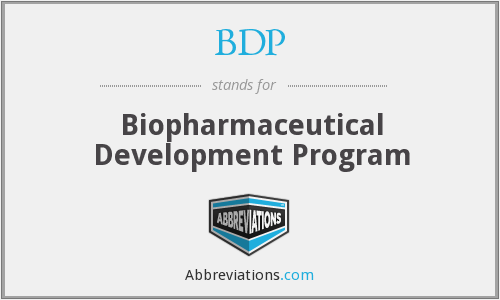 BDP - Biopharmaceutical Development Program