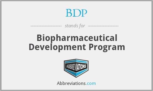 BDP - Biopharmaceutical Development Program