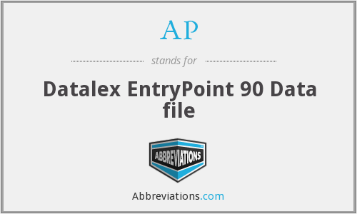 AP - Datalex EntryPoint 90 Data file