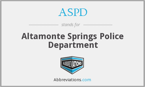 ASPD - Altamonte Springs Police Department