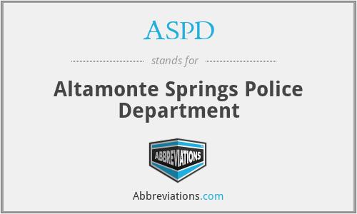 ASPD - Altamonte Springs Police Department