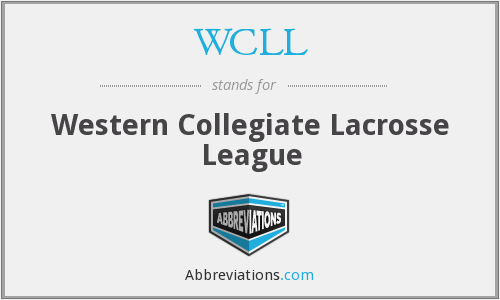 WCLL - Western Collegiate Lacrosse League