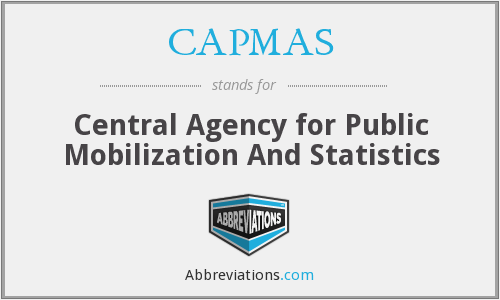CAPMAS - Central Agency for Public Mobilization And Statistics