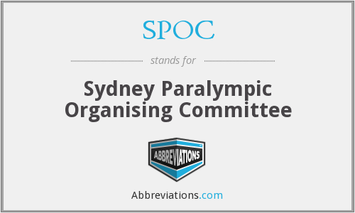 SPOC - Sydney Paralympic Organising Committee