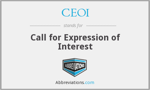 CEOI - Call for Expression of Interest