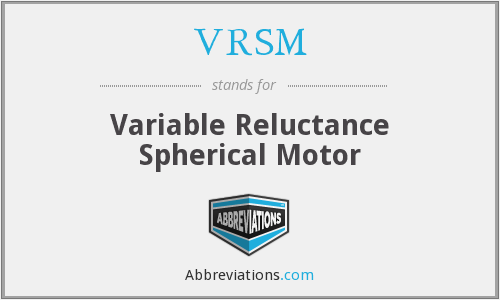 VRSM - variable reluctance spherical motor