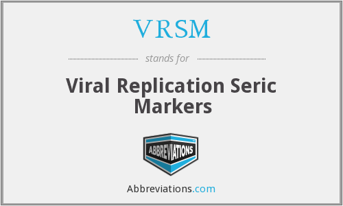VRSM - Viral Replication Seric Markers