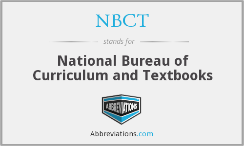NBCT - National Bureau of Curriculum and Textbooks