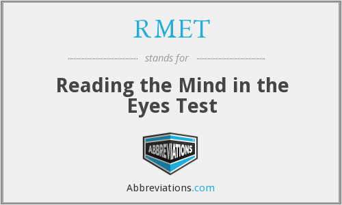 RMET - Reading the Mind in the Eyes Test