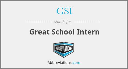 GSI - Great School Intern