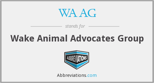 WAAG - Wake Animal Advocates Group
