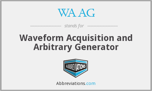 WAAG - Waveform Acquisition and Arbitrary Generator