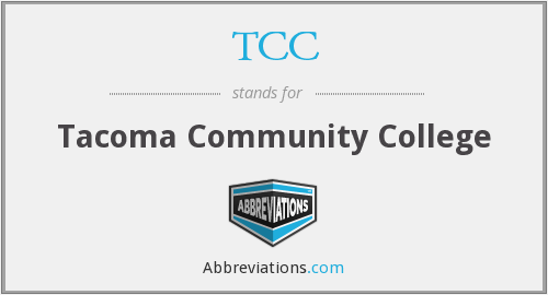 TCC - Tacoma Community College