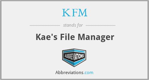 KFM - Kae's File Manager