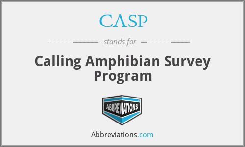 CASP - Calling Amphibian Survey Program