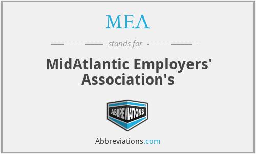 MEA - MidAtlantic Employers' Association's
