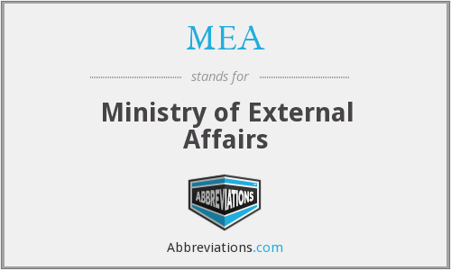 MEA - Ministry of External Affairs