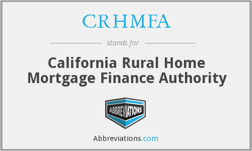 CRHMFA - California Rural Home Mortgage Finance Authority