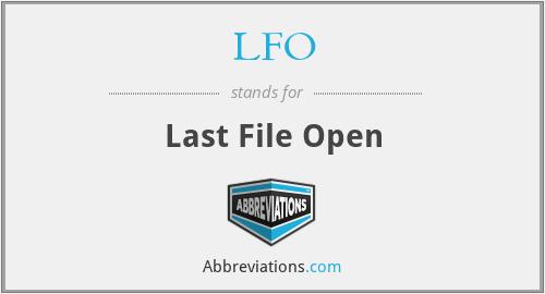 LFO - Last File Open