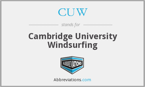What does CUW stand for?