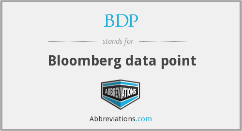 BDP - Bloomberg data point