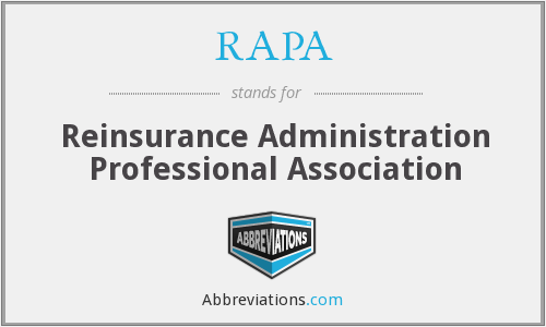 RAPA - Reinsurance Administration Professional Association