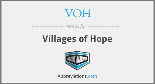 VOH - Villages of Hope